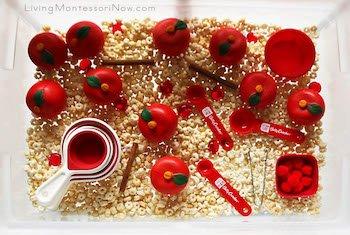 Ten Apples Top Sensory Bin Table