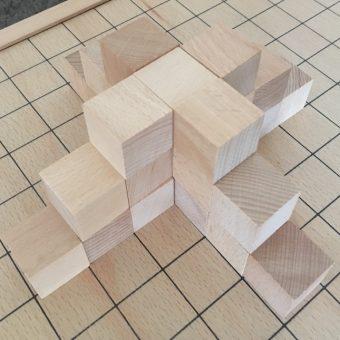 5 + 9 + 13 = 27 blocks