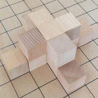 5 + 9 = 14 blocks